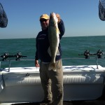 Captain Jim caught a 9 pound Lake Erie walleye while fishing aboard the charter boat Stray Cat in June