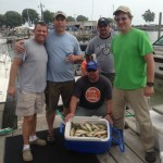 Krull Construction Lake Erie perch charter trip on the Stray Cat Luna Pier, MI