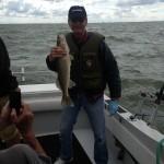 Lake Erie walleye fishing charter trip aboard the Stray Cat