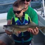 Walleye fishing charter trip aboard the Stray Cat Monroe, Michigan