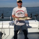 Monroe Michigan walleye fishing charter trip aboard the Stray Cat