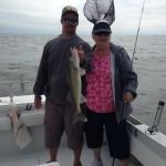 Lake Erie charter fishing near Monroe, Michigan
