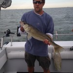 Lake Erie walleye fishing charter trip