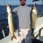 Lake Erie walleye fishing charter trip