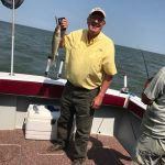 Lake Erie walleye charter trip in Michigan